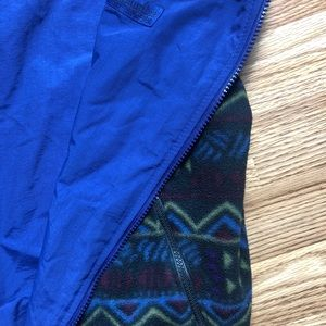 Vintage Columbia Mens Aztec Fleece Reversible Vest